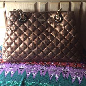 Bronze Kate Spade Quilted Shoulder Bag